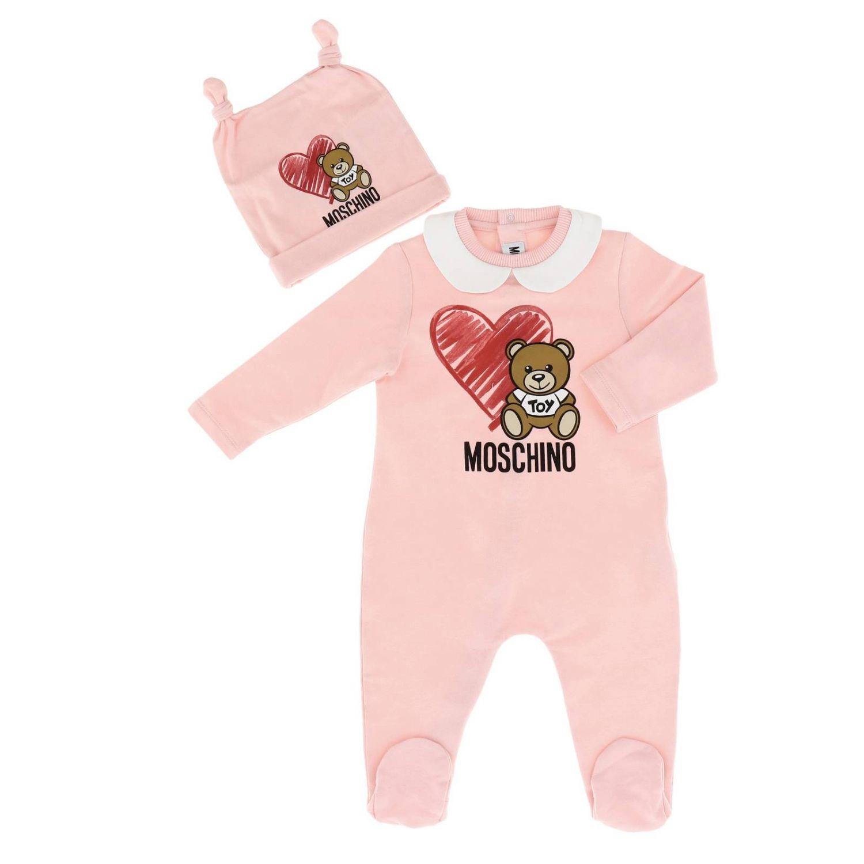 Romper kids Moschino Baby pink 1