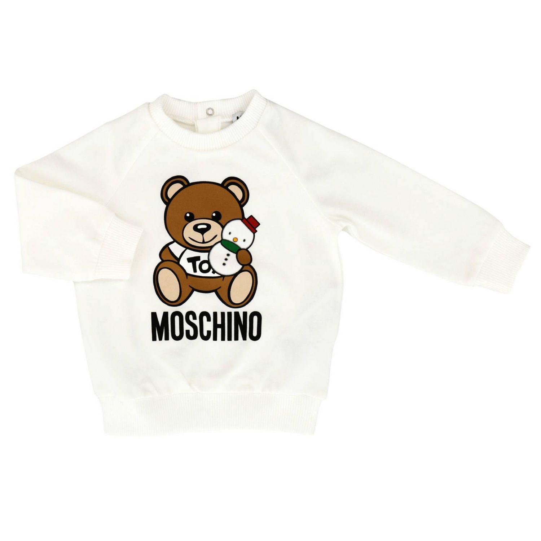 Pull enfant Moschino Baby blanc 1