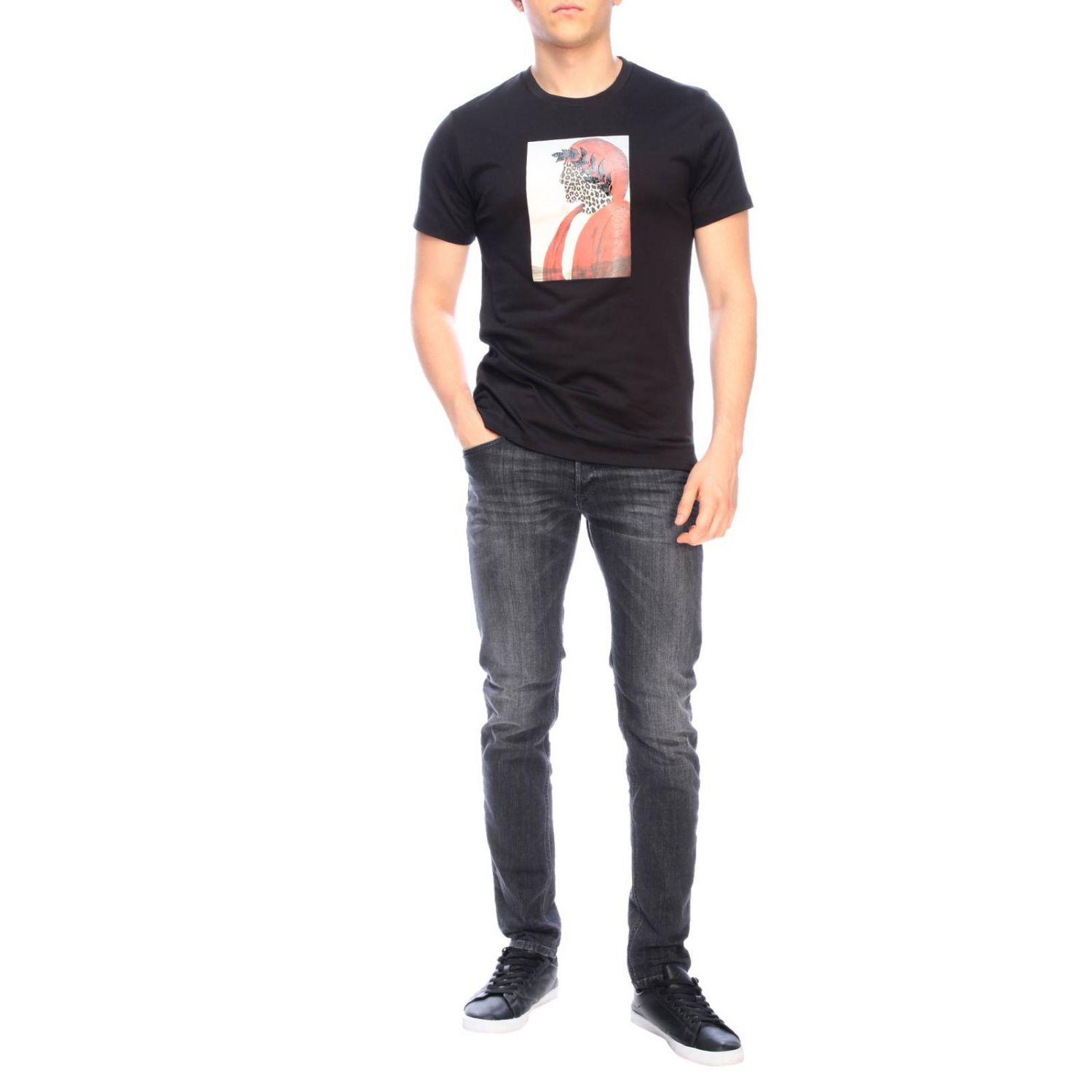 T-shirt men Roberto Cavalli black 2