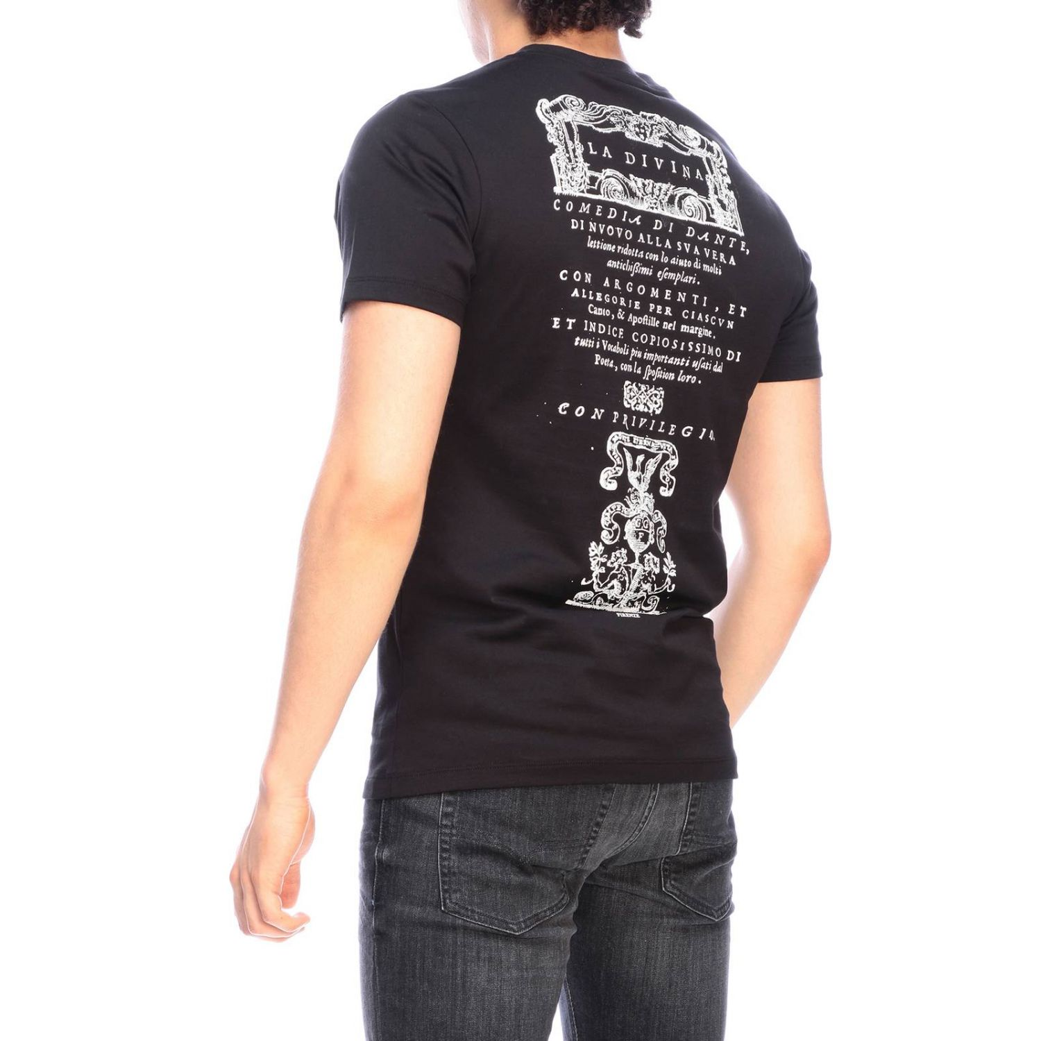 T-shirt men Roberto Cavalli black 3