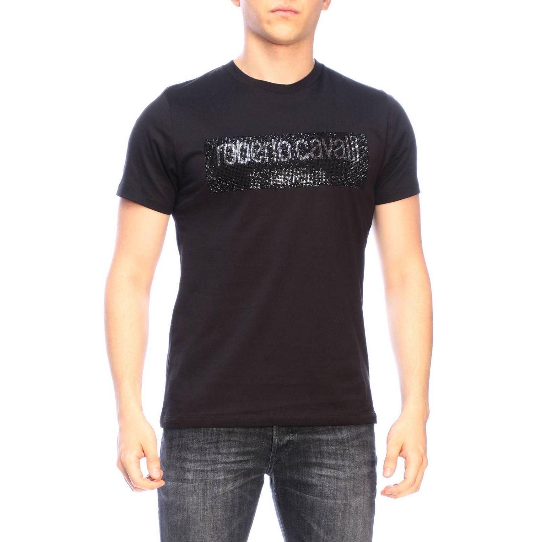 T-shirt men Roberto Cavalli black 1