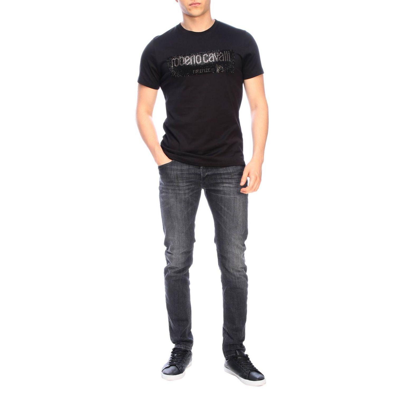 T-shirt men Roberto Cavalli black 2