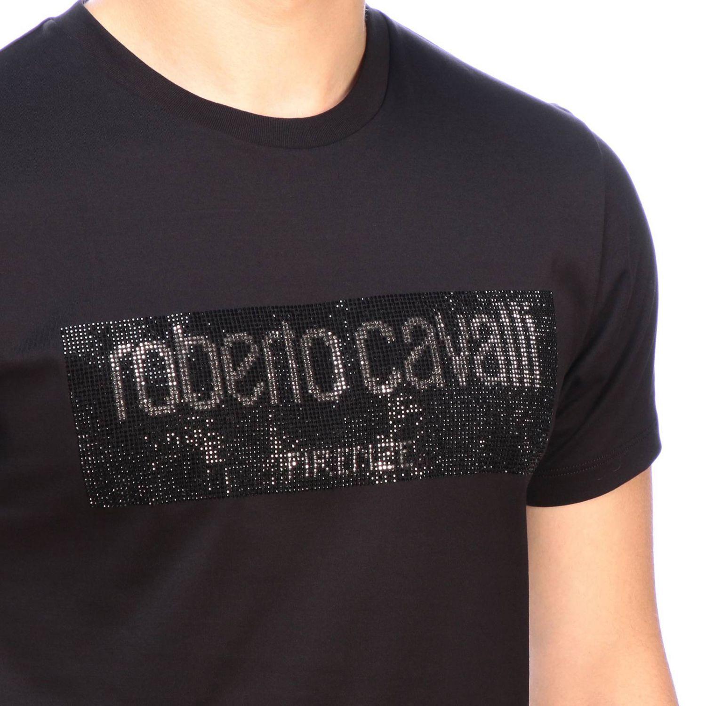 T-shirt men Roberto Cavalli black 4