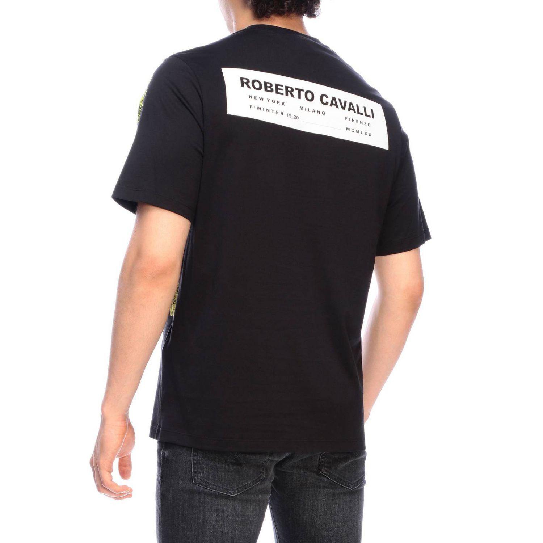 Camiseta hombre Roberto Cavalli negro 3