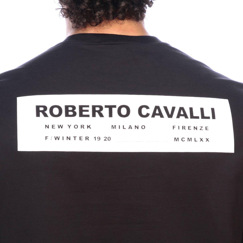 Camiseta hombre Roberto Cavalli negro 4