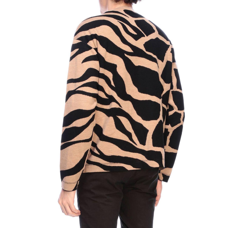 Maglia Roberto Cavalli a girocollo con fantasia giraffa beige 3