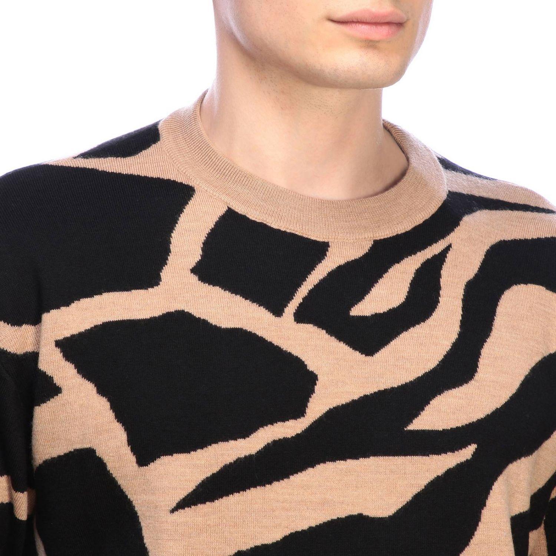 Maglia Roberto Cavalli a girocollo con fantasia giraffa beige 4