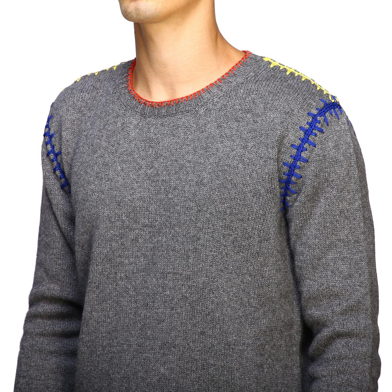 Maglia Roberto Cavalli a girocollo con cuciture colorate grigio 5