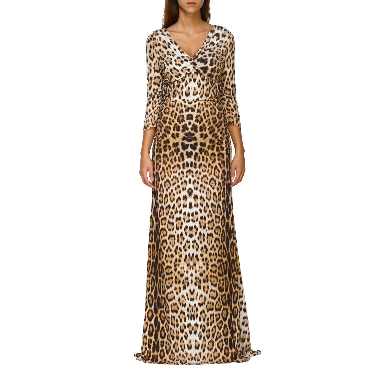 Vestido mujer Roberto Cavalli beige 1