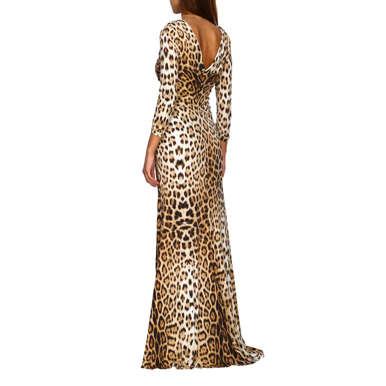 Vestido mujer Roberto Cavalli beige 2