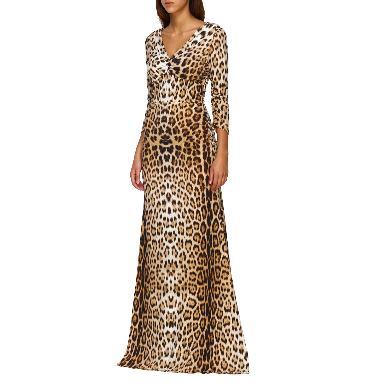 Vestido mujer Roberto Cavalli beige 3