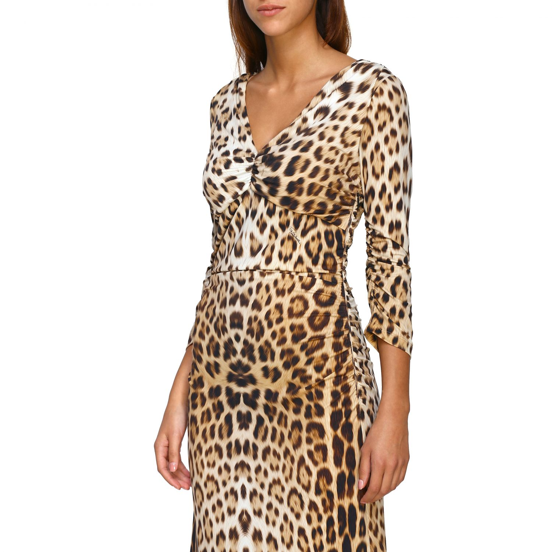 Vestido mujer Roberto Cavalli beige 4