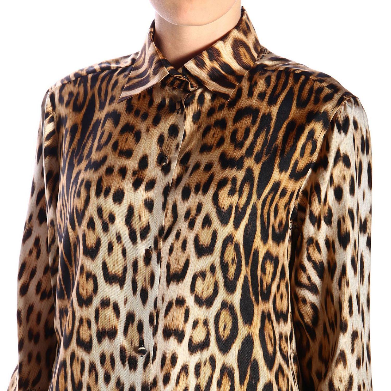 Camisa mujer Roberto Cavalli beige 4