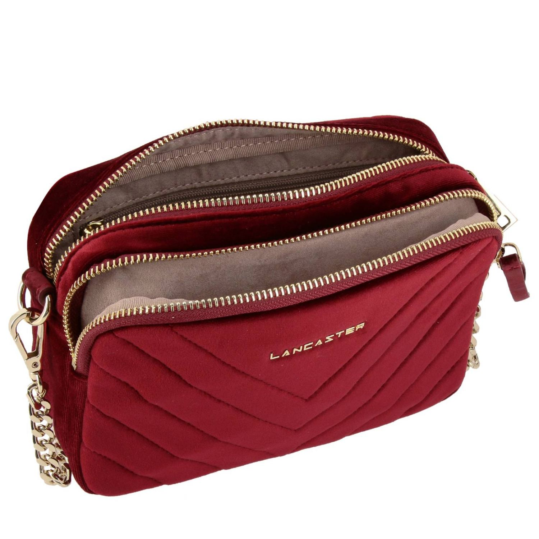 Mini bag Lancaster Paris: Shoulder bag women Lancaster Paris red 4