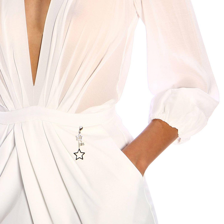 Elisabetta Franchi裙部开叉连衣裙 白色 3