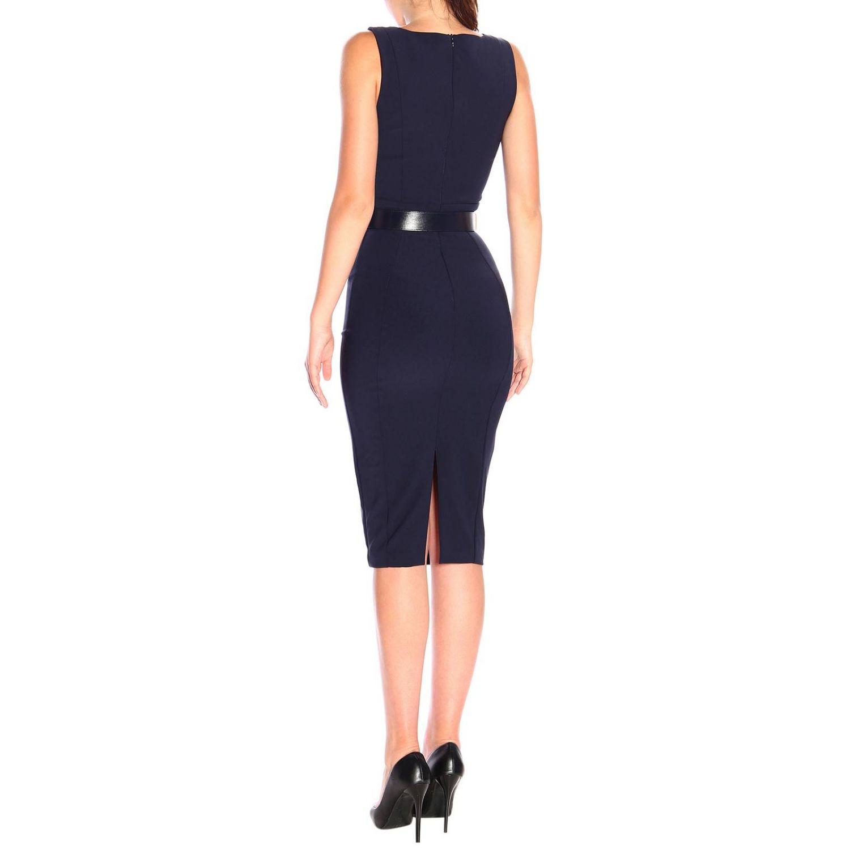 Elisabetta Franchi腰带修身型铅笔连衣裙 蓝色 2
