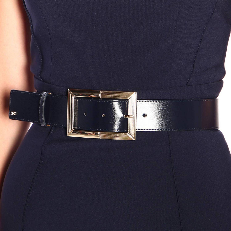 Elisabetta Franchi腰带修身型铅笔连衣裙 蓝色 3