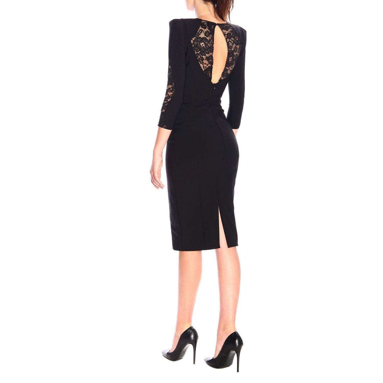 Kleid Elisabetta Franchi: Elisabetta Franchi Kleid mit Spitzendetails schwarz 2