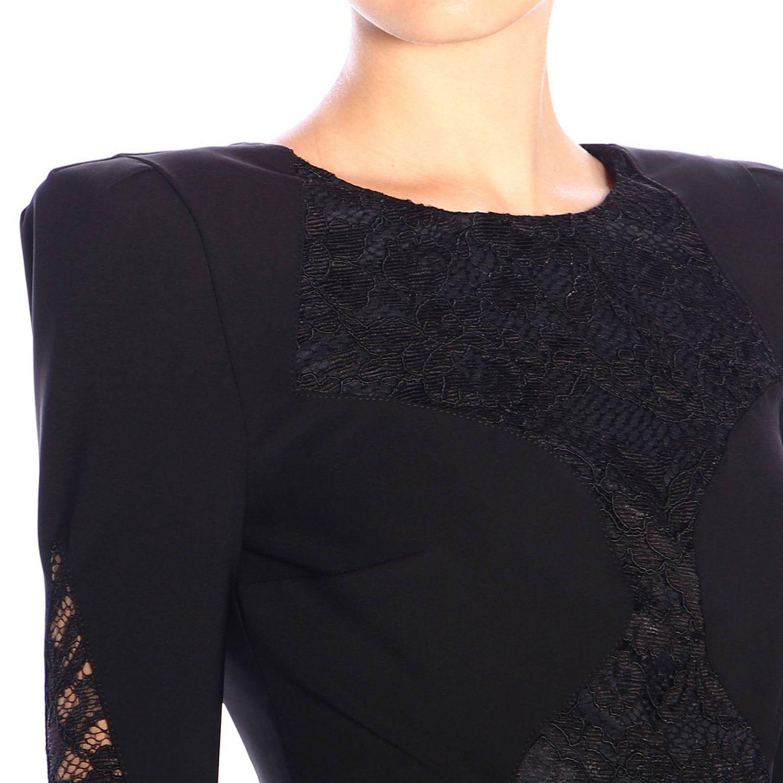 Kleid Elisabetta Franchi: Elisabetta Franchi Kleid mit Spitzendetails schwarz 3