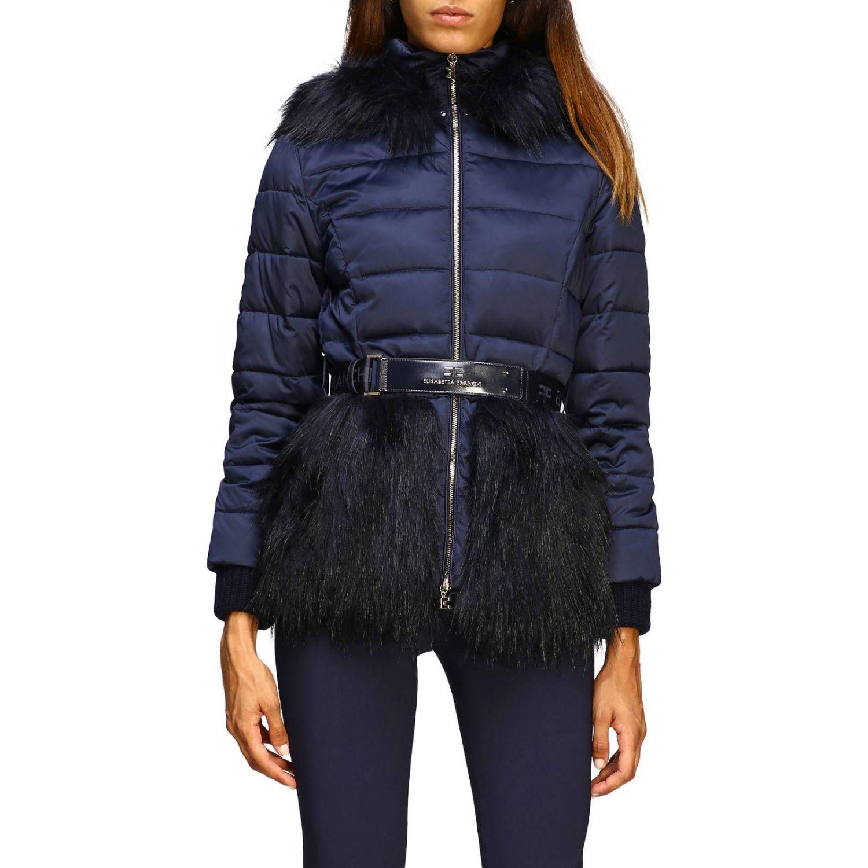 Jacket women Elisabetta Franchi blue 1