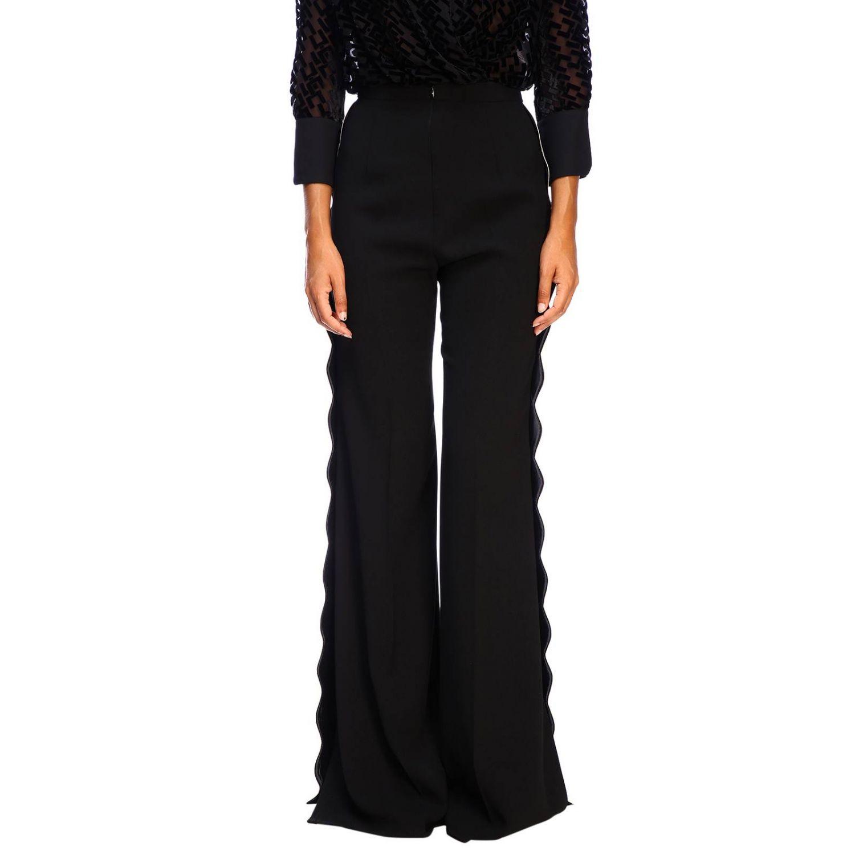 Trousers women Elisabetta Franchi black 1