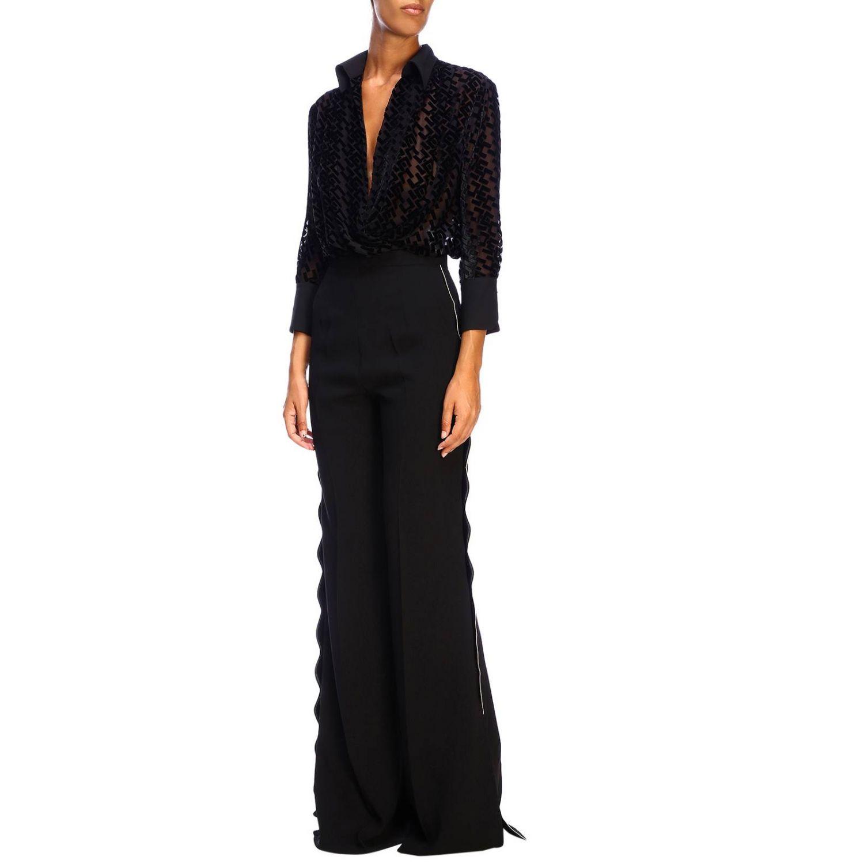 Trousers women Elisabetta Franchi black 2