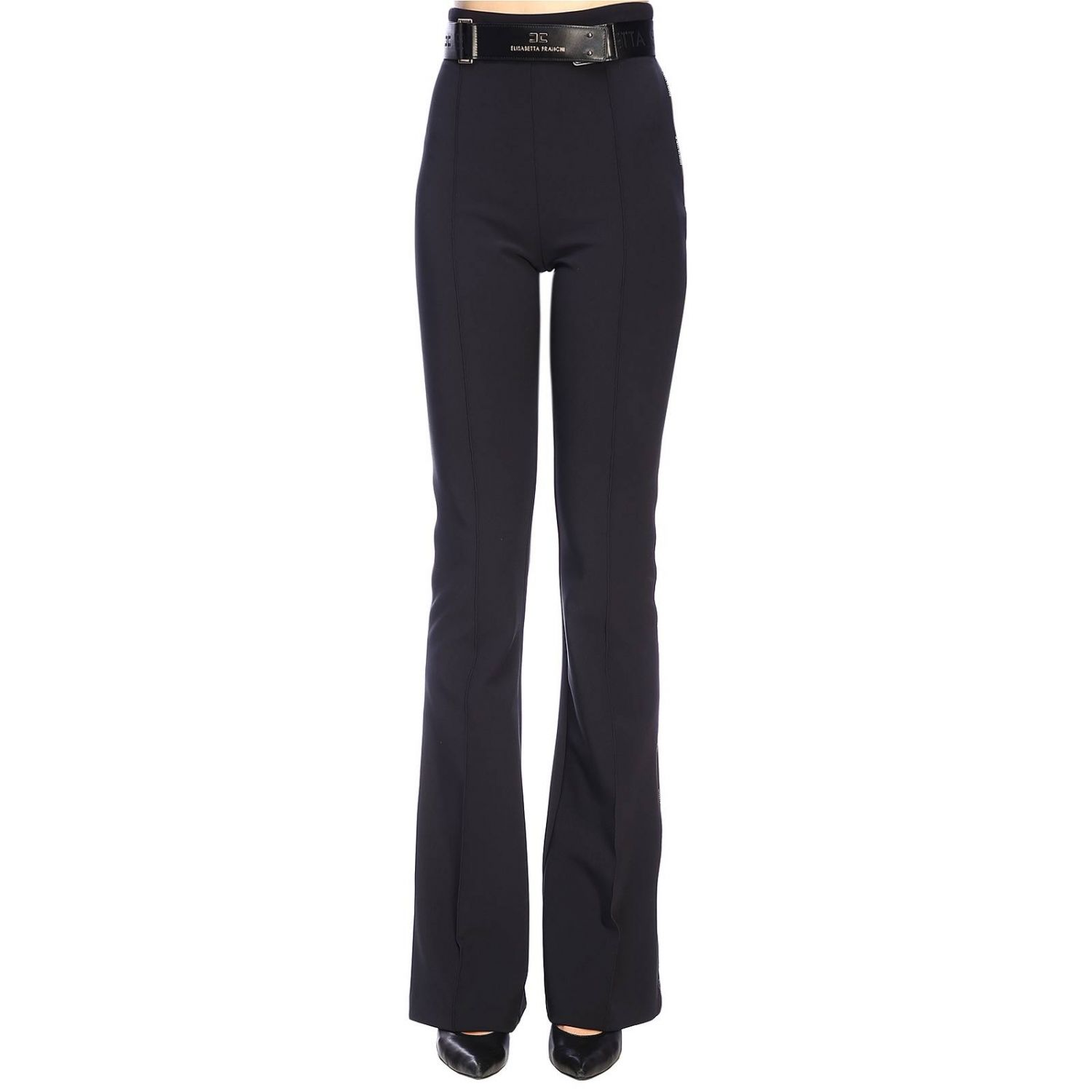 Trousers women Elisabetta Franchi black 1