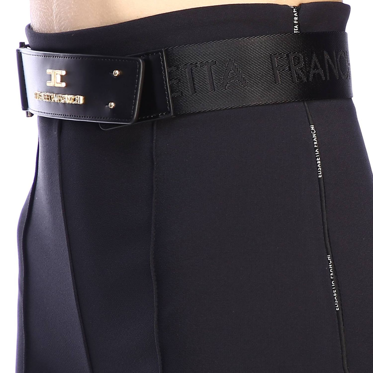 Trousers women Elisabetta Franchi black 4