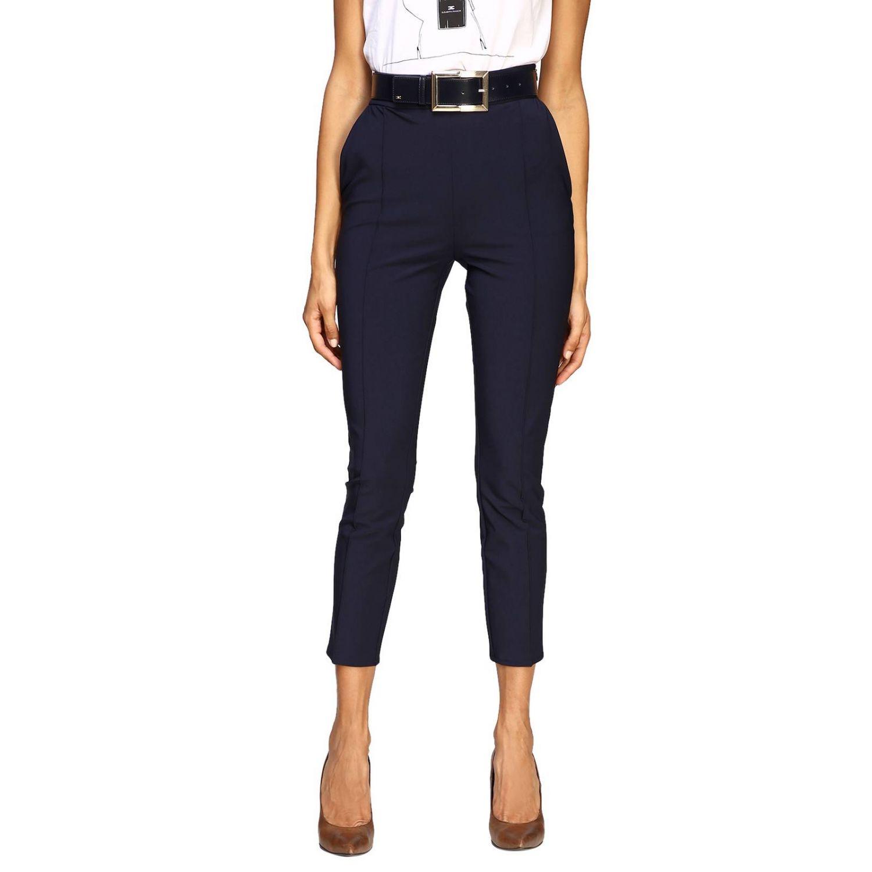 Trousers women Elisabetta Franchi blue 1