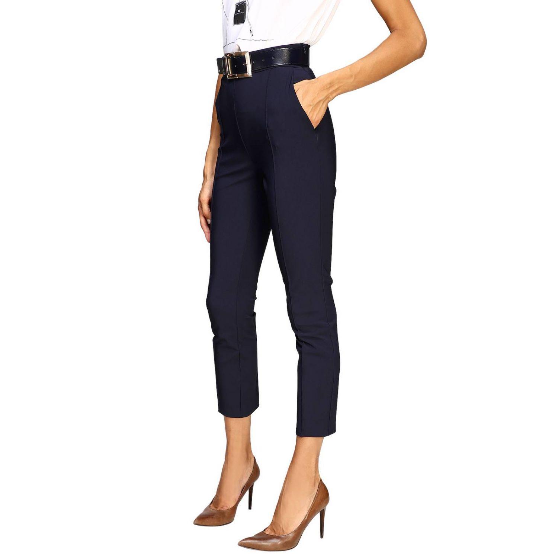 Trousers women Elisabetta Franchi blue 4