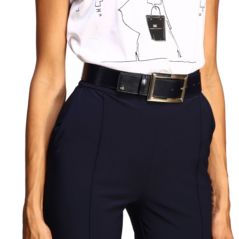 Trousers women Elisabetta Franchi blue 5