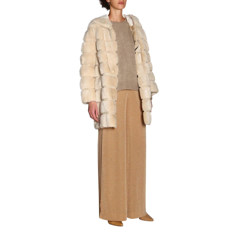 Fur coats women Simonetta Ravizza beige 2