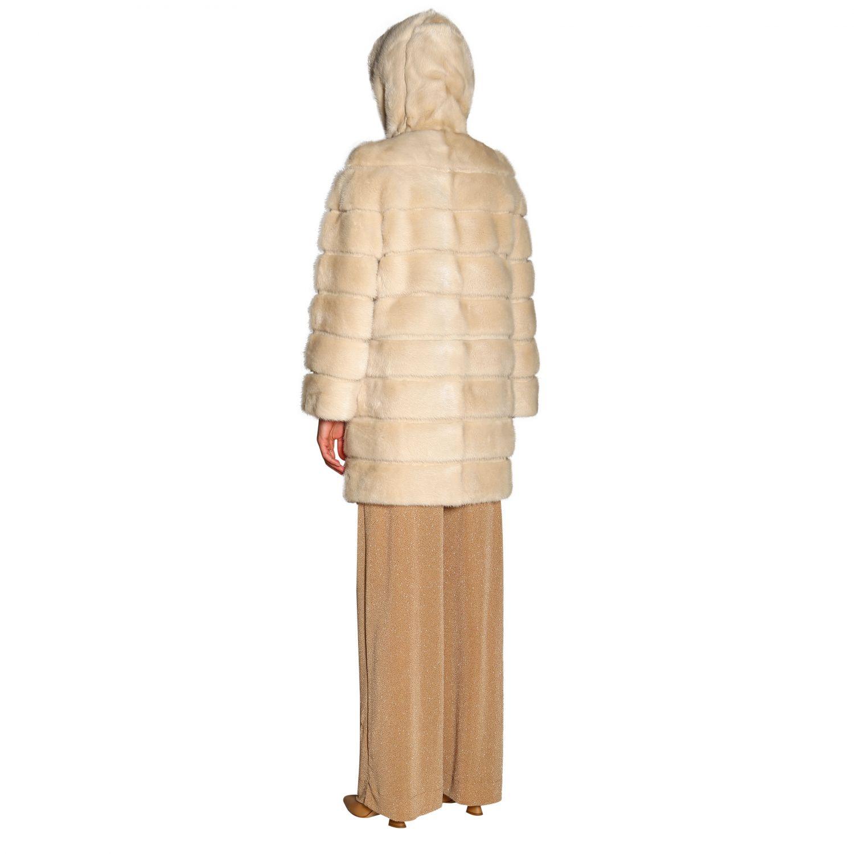 Fur coats women Simonetta Ravizza beige 3