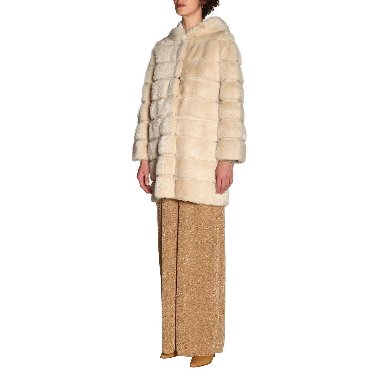 Fur coats women Simonetta Ravizza beige 4