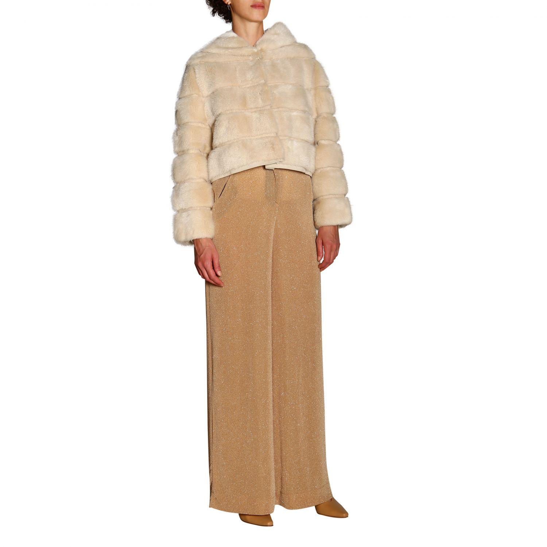 Fur coats women Simonetta Ravizza beige 5