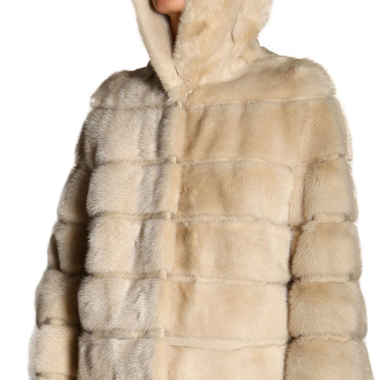 Fur coats women Simonetta Ravizza beige 6