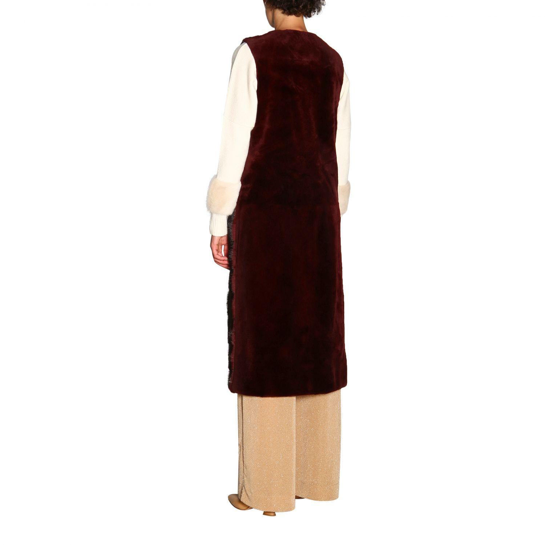 Fur coats women Simonetta Ravizza burgundy 3