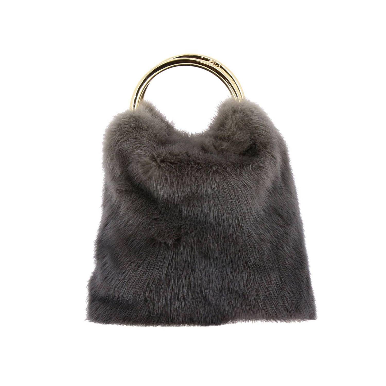 Handbag Simonetta Ravizza: Shoulder bag women Simonetta Ravizza grey 1