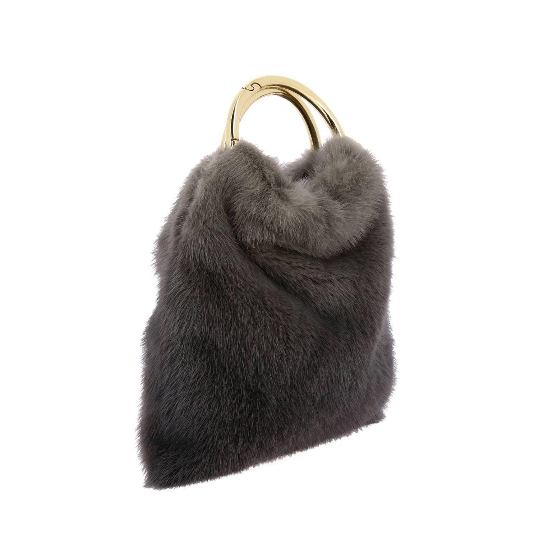 Handbag Simonetta Ravizza: Shoulder bag women Simonetta Ravizza grey 3