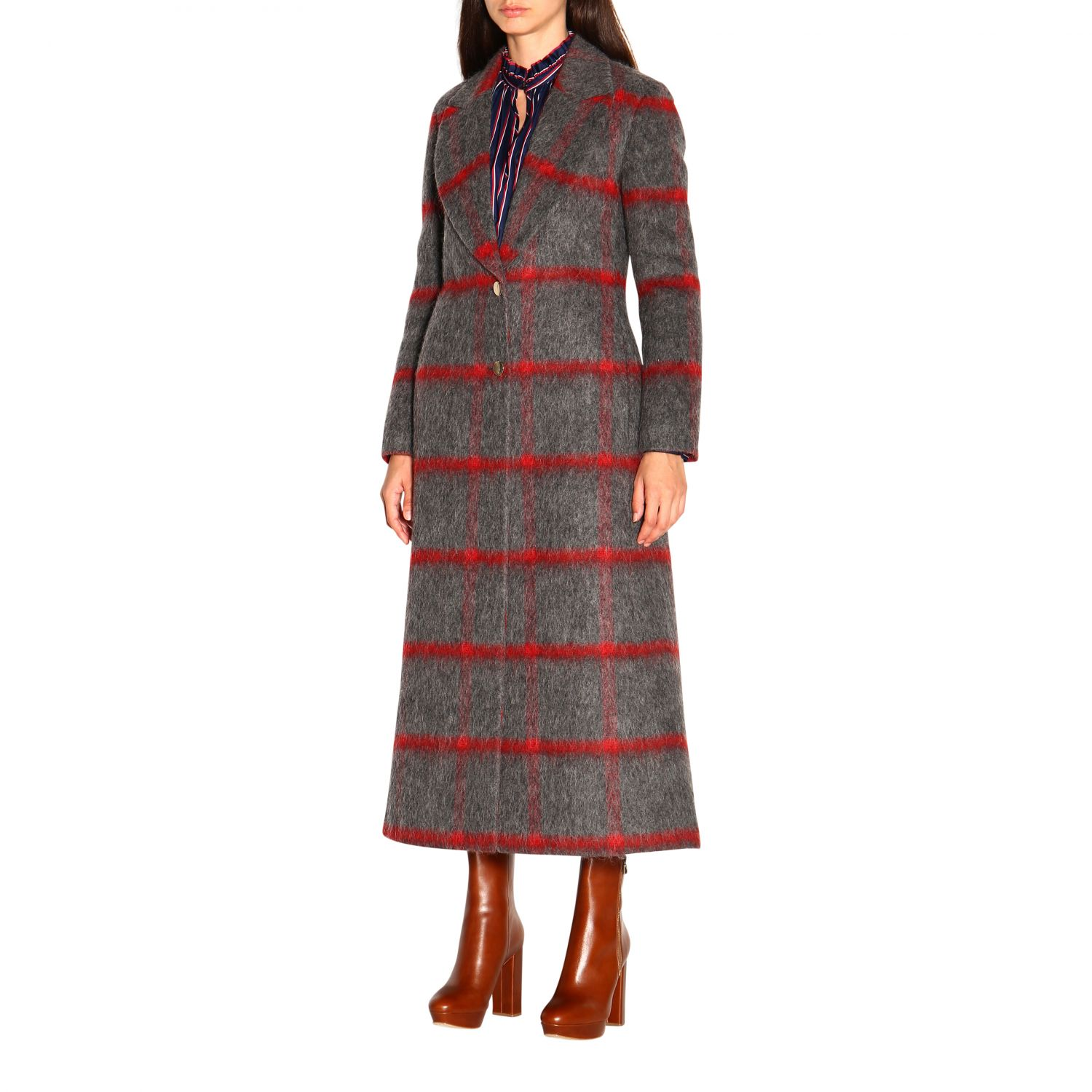 Coat women Stella Jean grey 4