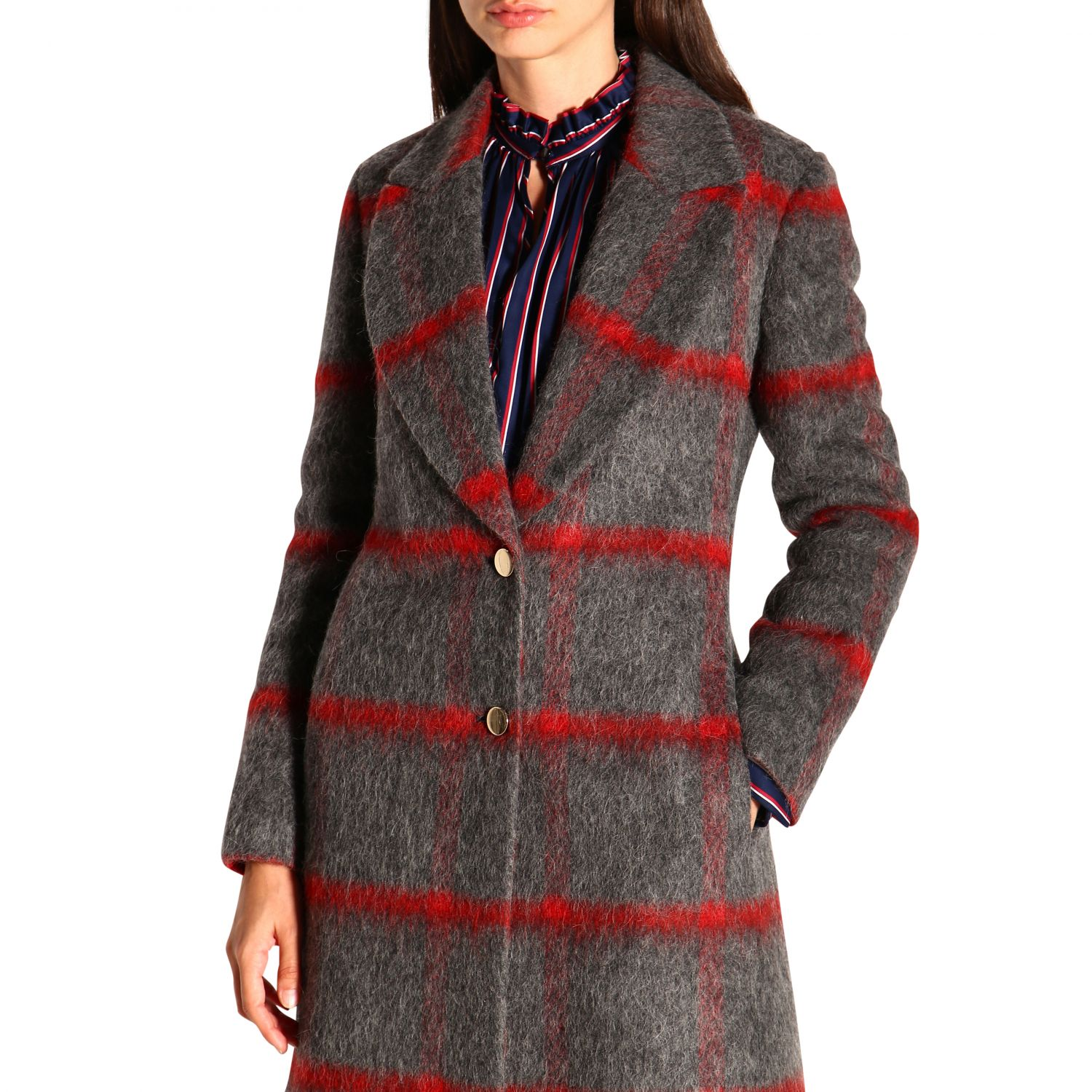 Coat women Stella Jean grey 5