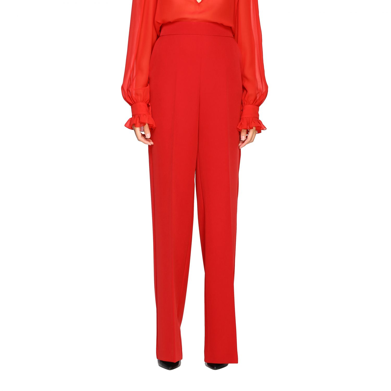 Pantalone Blumarine ampio in cady rosso 1