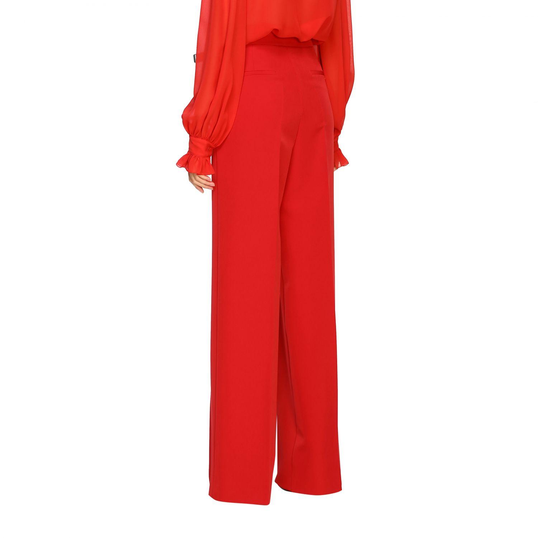 Pantalone Blumarine ampio in cady rosso 3