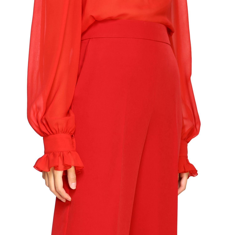 Pantalone Blumarine ampio in cady rosso 5