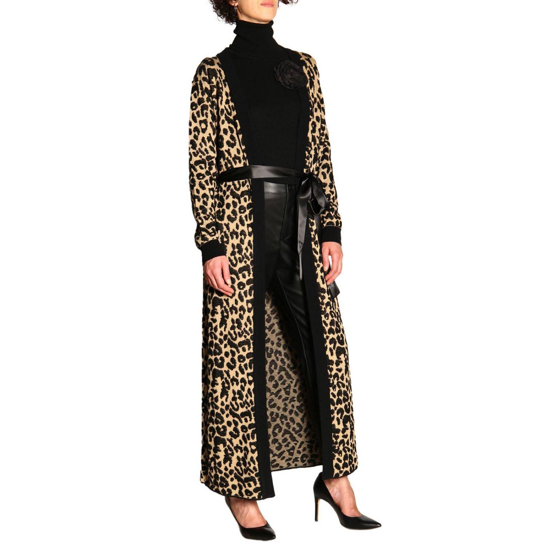 Maglia Be Blumarine in lana e cashmere a collo alto con applicazione floreale nero 2