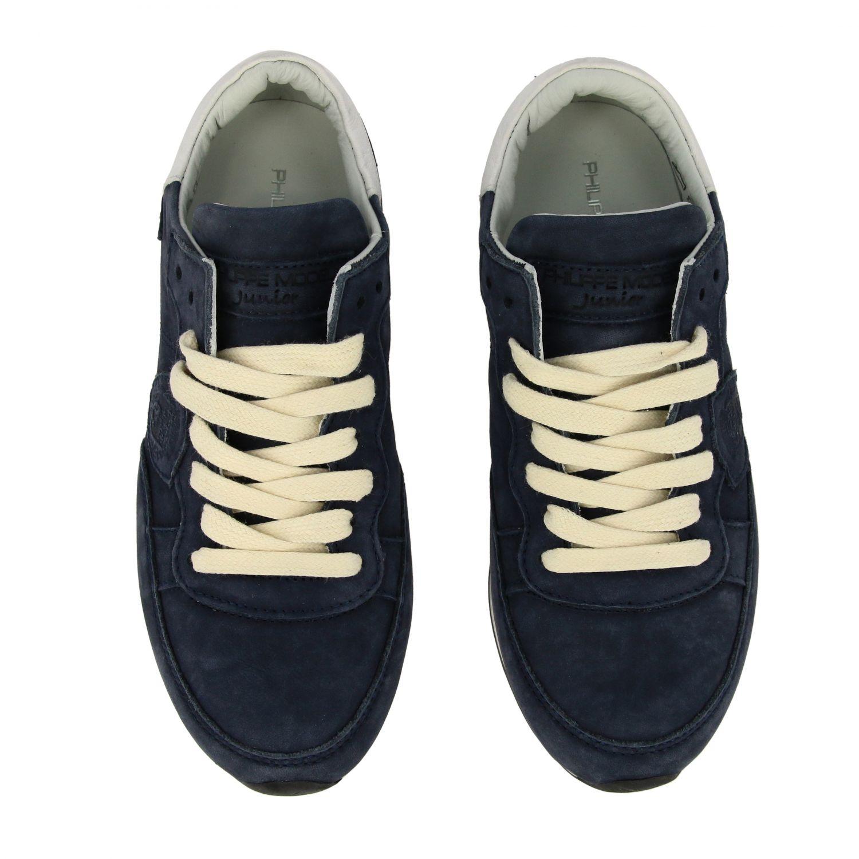 Sneakers Tropez Philippe Model stringata in nabuk blue navy 3