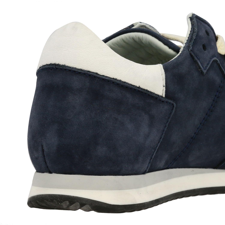 Sneakers Tropez Philippe Model stringata in nabuk blue navy 5