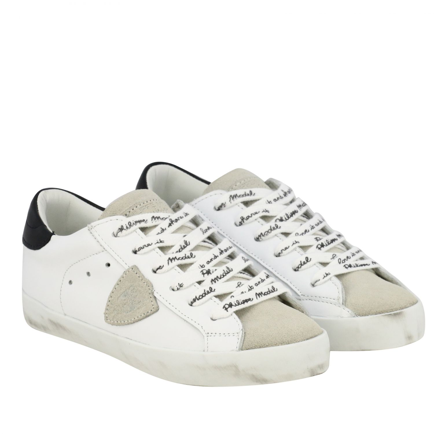 Shoes kids Philippe Model white 2