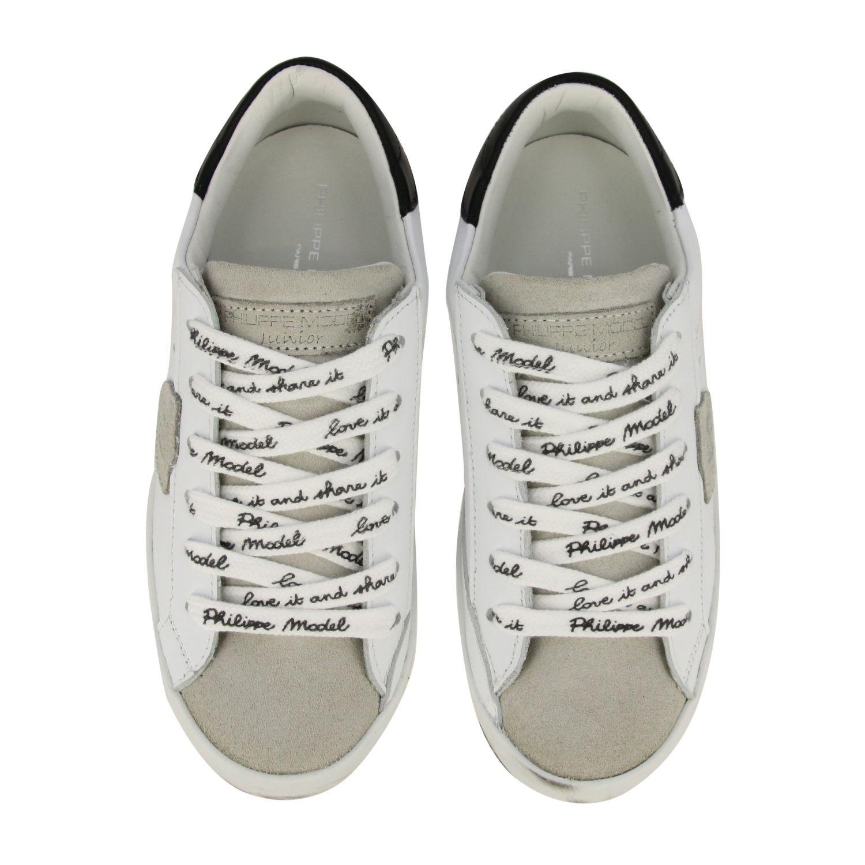 Sneakers Paris Philippe Model in pelle bianco 3