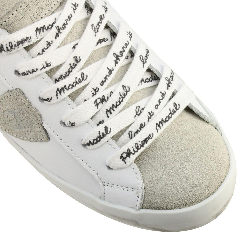 Sneakers Paris Philippe Model in pelle bianco 4